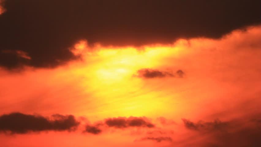 Glowing orange sky time-lapse | Shutterstock HD Video #4306601