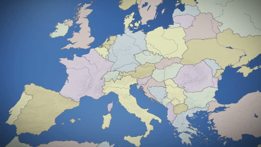Netherlands On Map Of Europe Stock Footage Video 100 Royalty Free