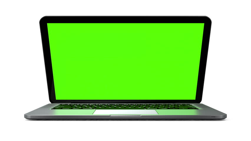 Modern notebook animation. Isolated on white background, chroma key #4348571