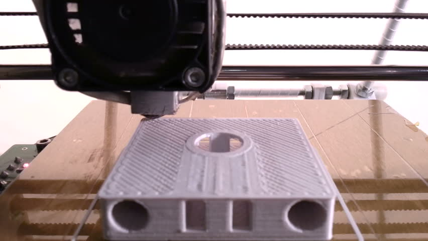 Printing with Plastic Wire Filament on 3D Printer   Shutterstock HD Video #4360241
