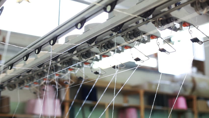 View of moving threads on loom | Shutterstock HD Video #4373171