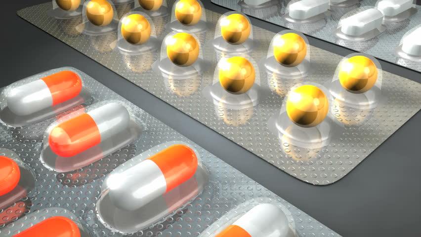 Pill capsule blister pack.