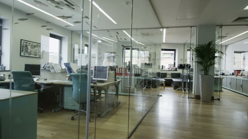 View around a stylish contemporary office space with no people | Shutterstock HD Video #4389611