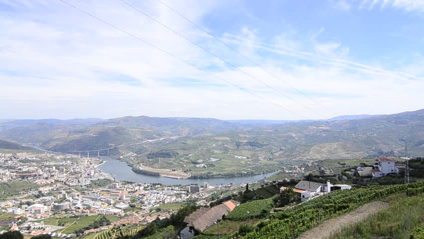 Terraced vineyards in Douro Valley, Alto Douro Wine Region in northern Portugal, officially designated by UNESCO as World Heritage Site