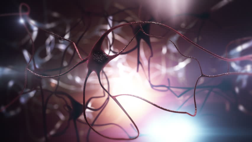 Neurons with electric impulses. Loop-able. Blue-Red.  See more color options in my portfolio.