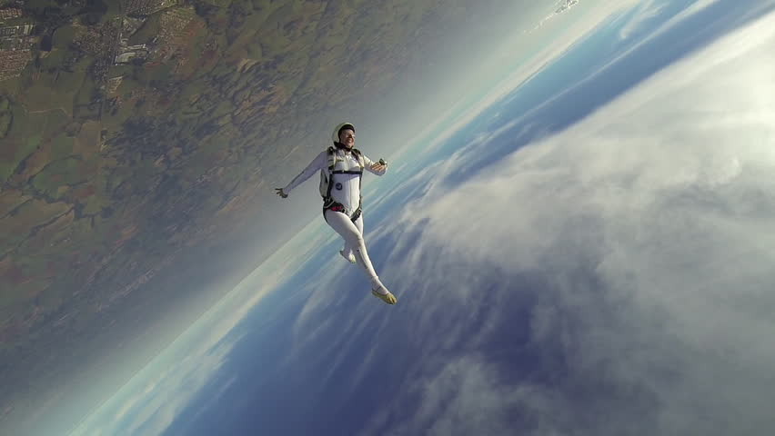 Skydiver woman freestyle