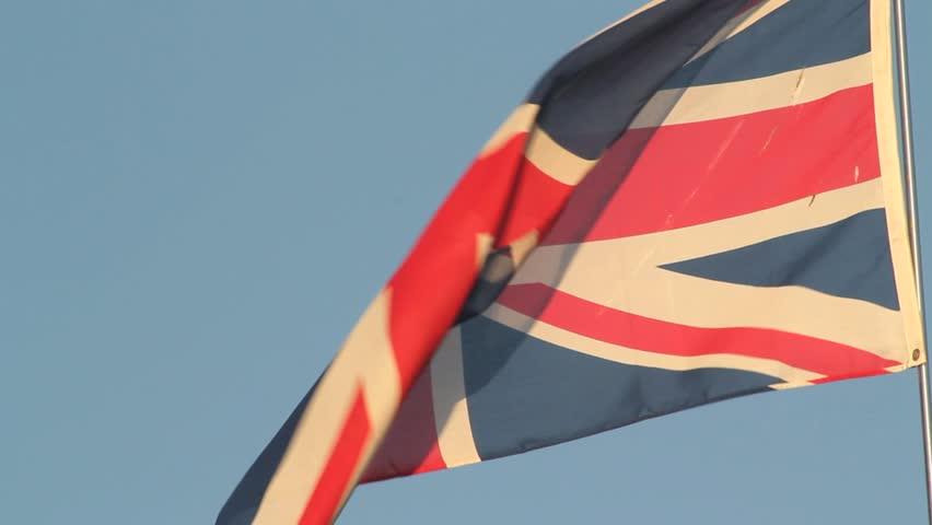 Union Jack flying in wind