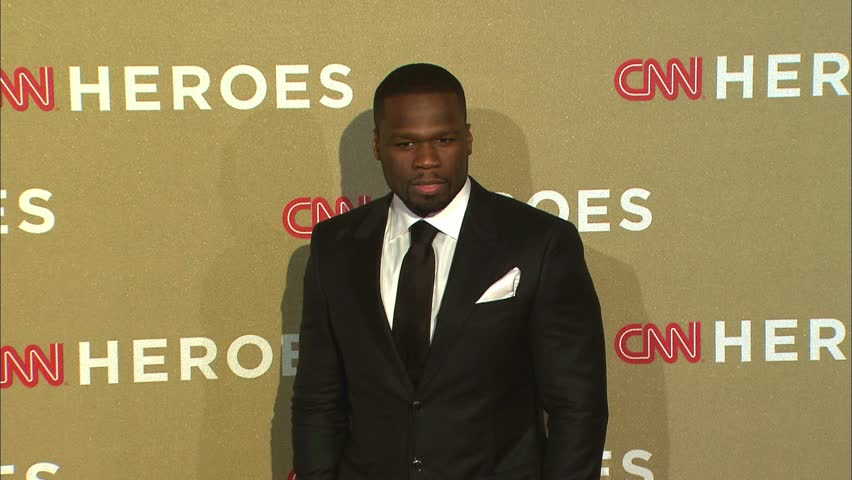 LOS ANGELES - December 2, 2012: Curtis 50 Cent Jackson at the CNN Heroes: An All-Star Tribute 2012 in the Shrine Auditorium in Los Angeles December 2, 2012