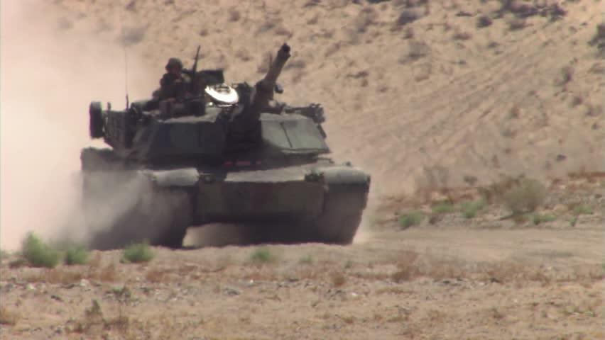 Military, Tank driving towards camera