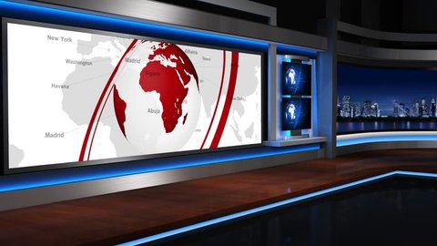 The background of the virtual studio