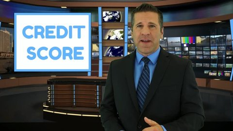 A News Anchor Gives a Generic Report on a Service that Can Help You Repair Your Credit