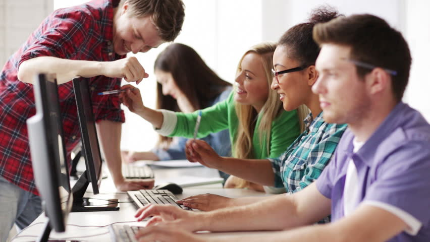 Education and school - students in computer class | Shutterstock HD Video #4507691