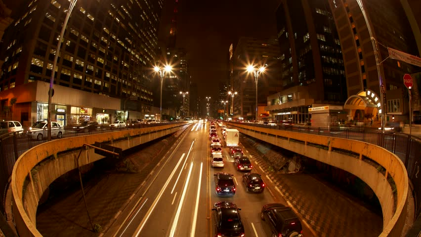 SAO PAULO, BRAZIL – JULY 04: People hurry back home during rush hour on Avenida Paulista. Sao Paulo, Brazil, July 04, 2013.