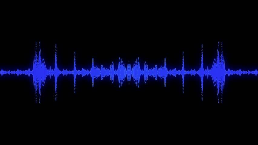 Audio specturm blue colour #4515941
