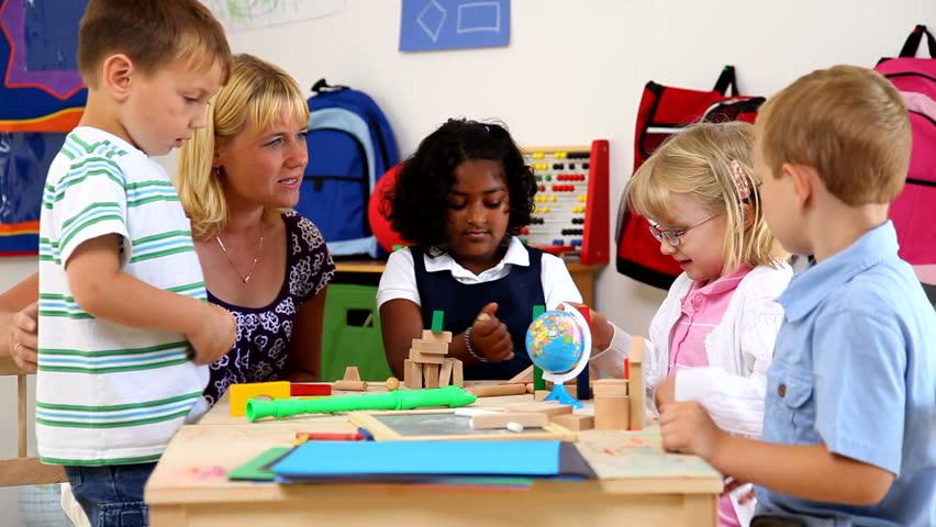 Stock video of preschool kids and teacher | 4557701 ...