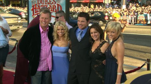 HOLLYWOOD - July 28, 2005: Joe Simpson, Jessica Simpson, Nick Lachey, Tina Simpson, and Ashlee Simpson at The Dukes Of Hazzard Premiere in the Grauman's Chinese Theatre in Hollywood July 28, 2005