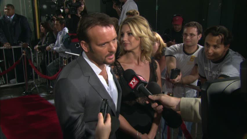 HOLLYWOOD - October 6, 2004: Tim McGraw and Faith Hill at the Friday Night Lights Premiere in the Grauman's Chinese Theatre in Hollywood October 6, 2004 | Shutterstock HD Video #4560221