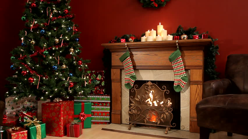 Room decorated for Christmas | Shutterstock HD Video #4562321