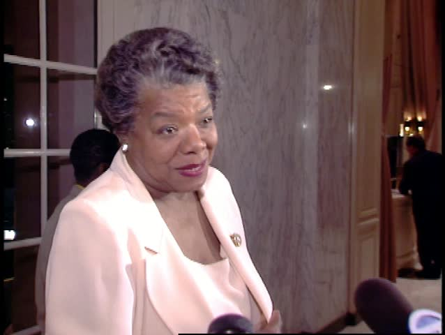 LOS ANGELES - December 13, 1995: Maya Angelou at the Human Rights Dinner 1995 in the Century Plaza Hotel in Los Angeles December 13, 1995