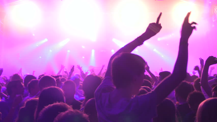 Silhouette of People partying during a festival