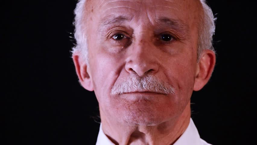 portrait of senior man, close-up