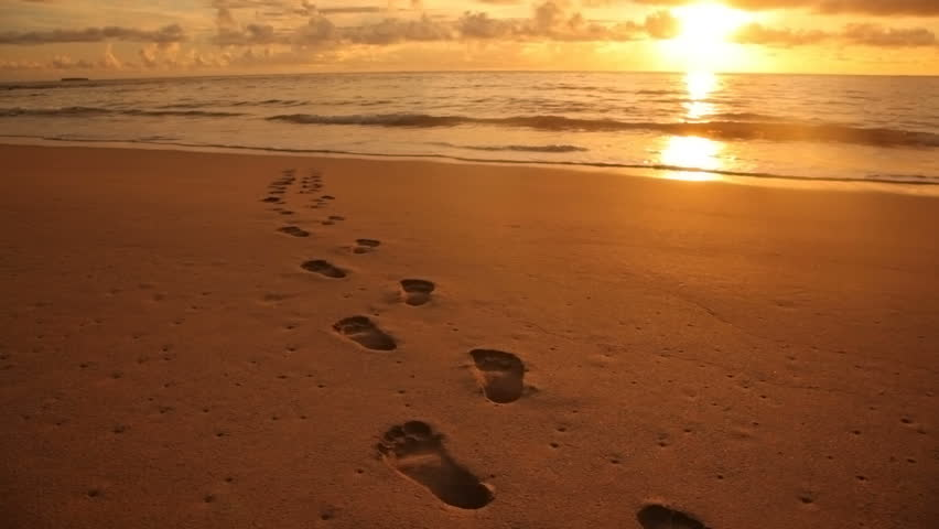 Image result for footprints in sand