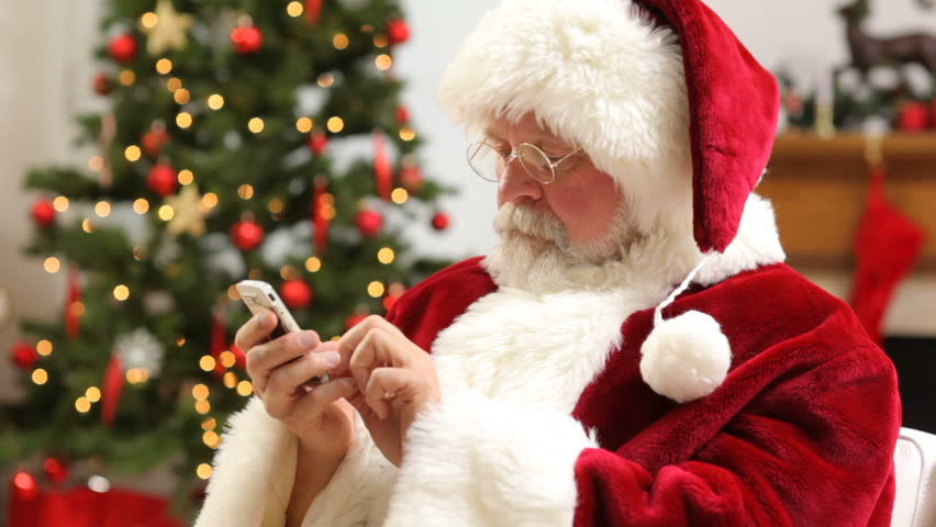 Image result for santa on phone