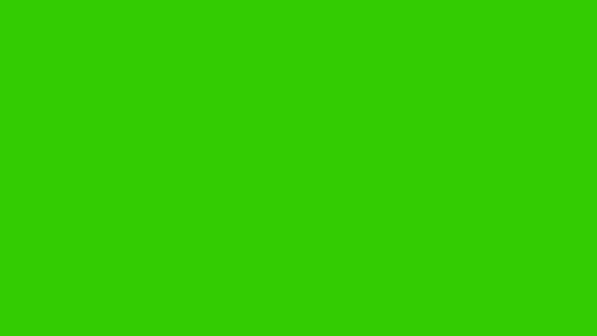 Particles are rotating in spiral movement on green screen | Shutterstock HD Video #463561