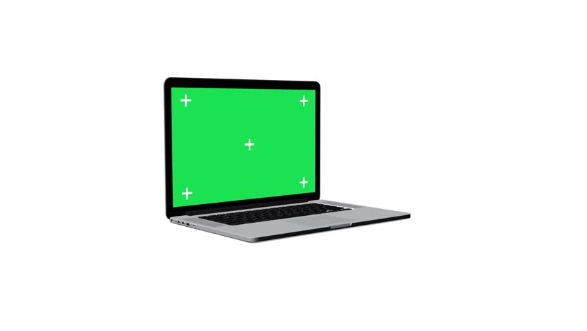 Notebook Open With Green Screen With Alpha | Shutterstock HD Video #4648085