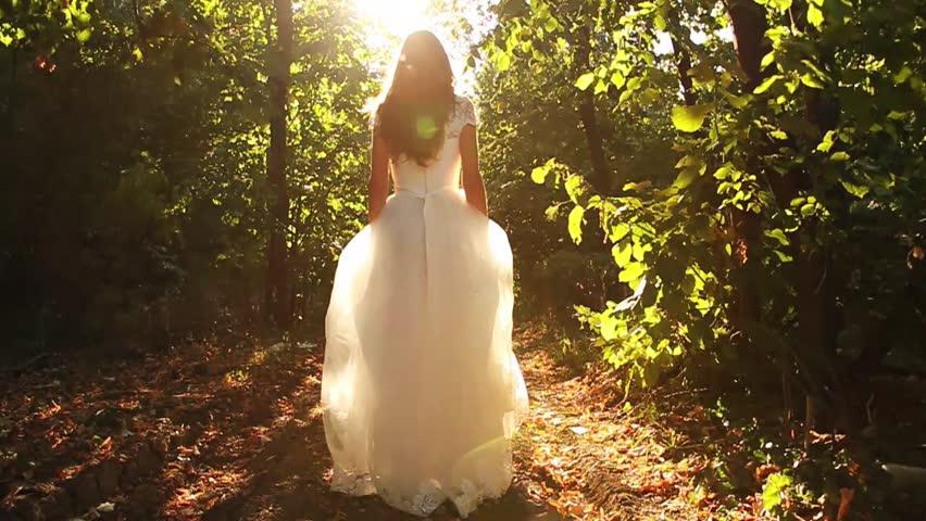 Princess Dress Woman Running Fairy Tale Forest Concept HD   Shutterstock HD Video #4654322