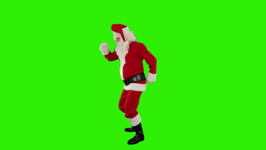 Santa Claus Dancing isolated, Dance 4, Green Screen