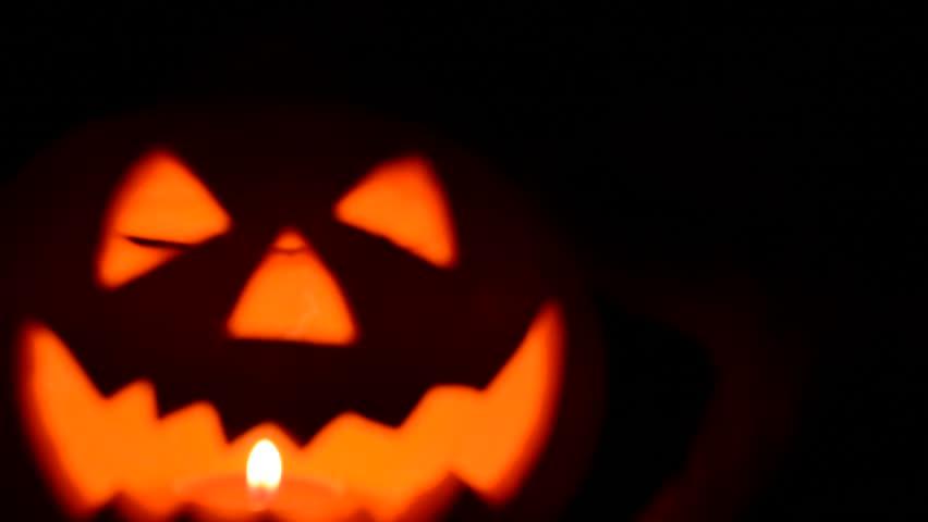 Pumpkin with candle light | Shutterstock HD Video #4703591