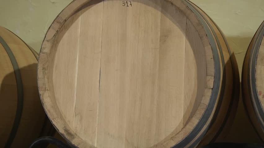 Wine barrels in a cellar | Shutterstock HD Video #4709831