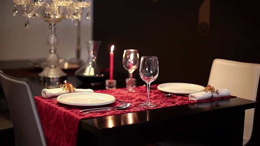 Romantic Dinner Table Stock Video Footage   4K And HD Video Clips |  Shutterstock