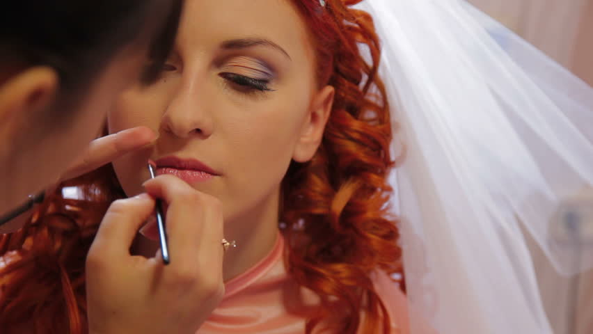 Makeup artist at work.