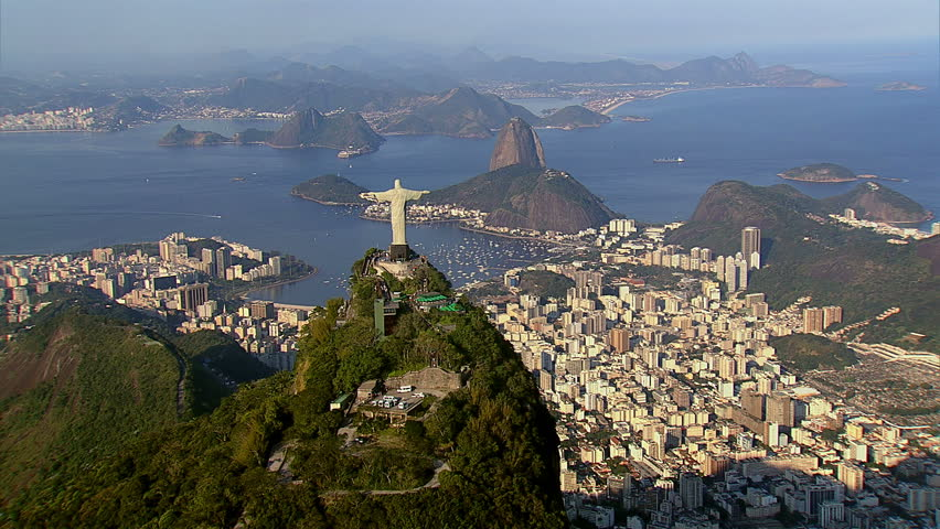 Cineflex aerial shot of Rio de Janeiro, Brazil