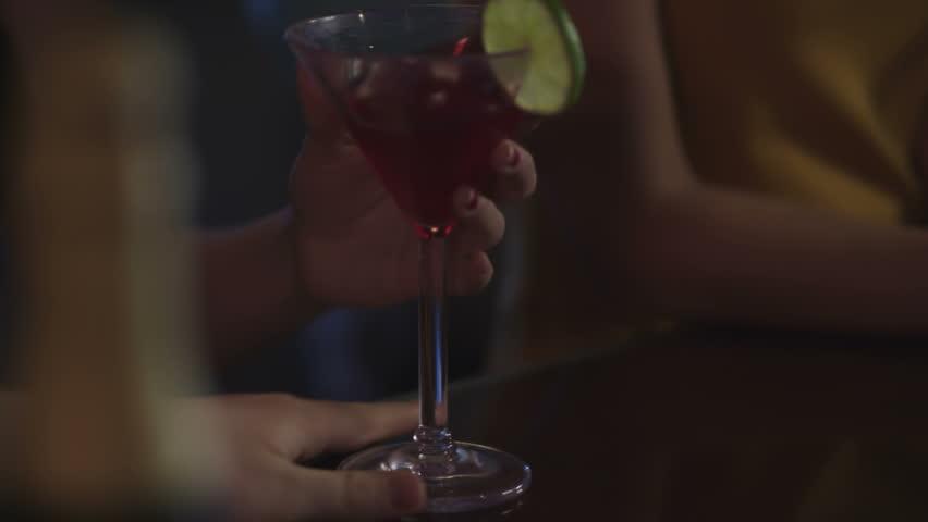 Close up of hands at a bar | Shutterstock HD Video #4776731