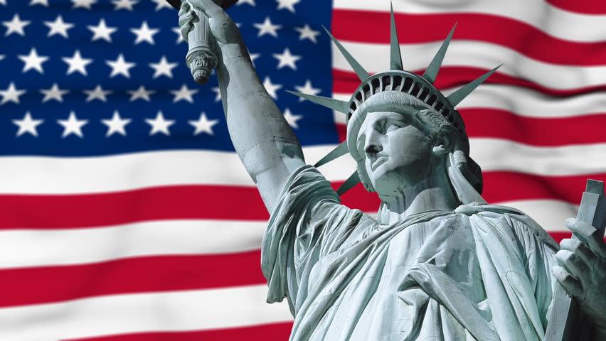 Resultado de imagen para united states flag statue of liberty
