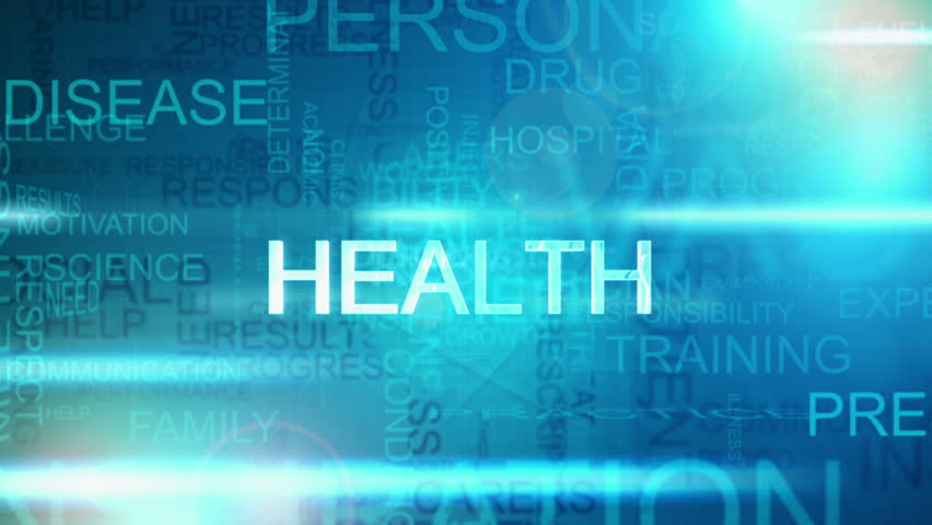 3D Montage Of Graphic Text With Healthcare Theme Abstract