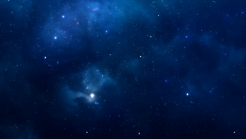 Night sky traveling trough universe filled with stars, nebulae and galaxies - HD Video 1080p