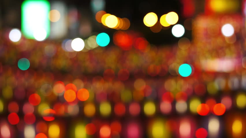 Defocused Lights, Singapore, Chinatown, Asia, time-lapse