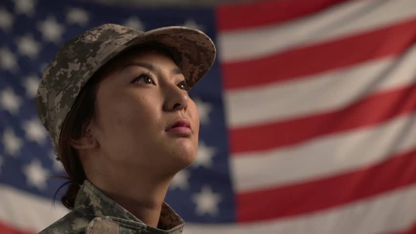 Asian female soldier in front of american flag stock footage video asian female soldier in front of american flag stock footage video 4830401 shutterstock sciox Gallery