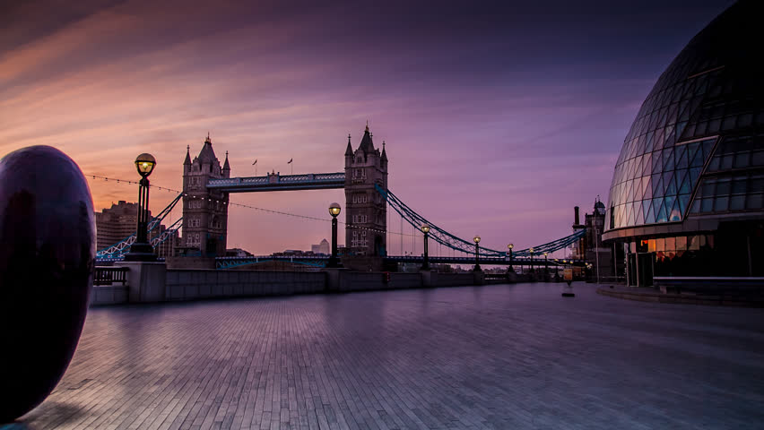 Tower Bridge Sunrise, London Tracking Time-lapse | Shutterstock Video #4841630