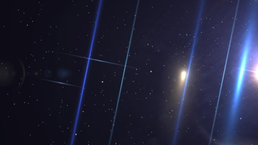 Star Field with Lens Flare Animated Abstract Background | Shutterstock HD Video #4859111