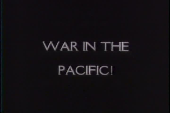 1940s - Japan bombs ports and ships at Midway and New Guinea during World War two.