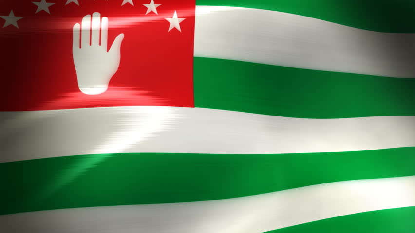 Abkhazia flag flying in a loop