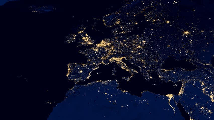 Planet earth animation of europe at night 1080p hd stock footage europe night from space hd stock video clip gumiabroncs Choice Image