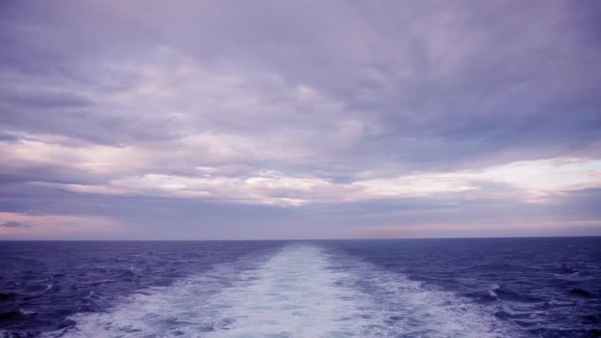 Cruise ship's wake
