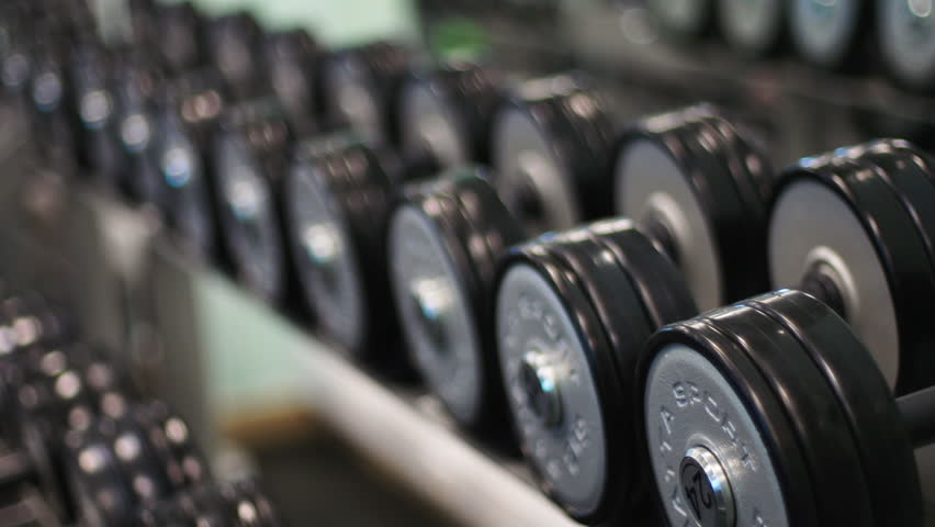 Diverse Equipment And Machines At The Gym Room Stock Footage Video ...