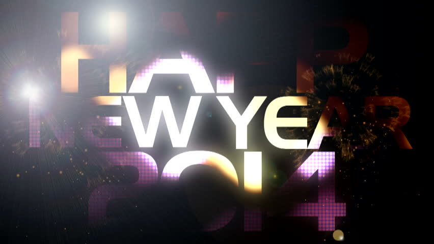 New year golden shimmering text ( Special 2014 Series )
